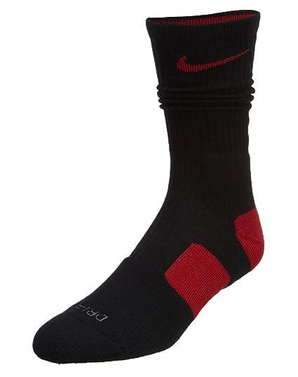 Nike Dri-FIT Elite Crew Calcetines de baloncesto Black / Varsity Red / Varsity Red