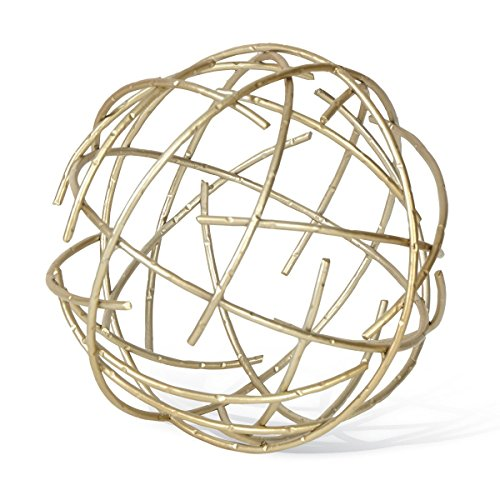 Foreside Medium Brass Stick Sphere product image