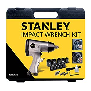 "STANLEY 160157XSTN Kit Avvitatore ad impulsi in valigetta, 1/2"" con 10 bussole, Velocità 4600/min 51Z397lVVNL. SS300"