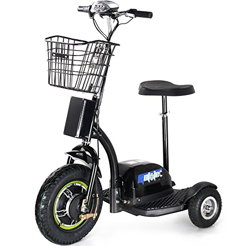 MotoTec Electric Trike 48V 500W (2 Person Electric Scooter)