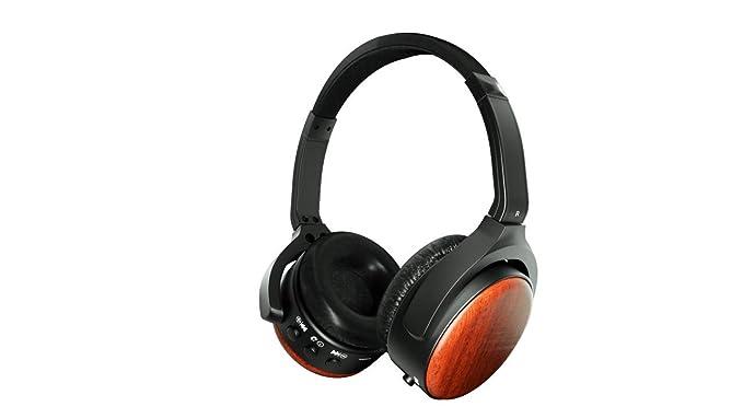 Activo cancelación de ruido auriculares Bluetooth, auriculares inalámbricos iDeaUSA con micrófono de diadema para TV