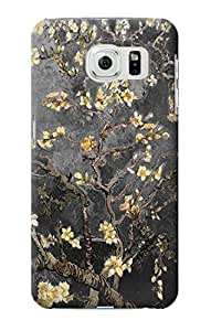 E2664 Black Blossoming Almond Tree Van Gogh Funda Carcasa Case para Samsung Galaxy S6