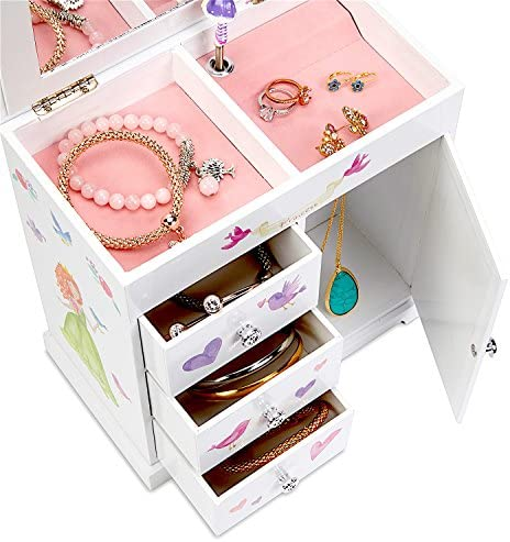 personalised fairys mermaids unicorn Jewellery box princess xmas girls