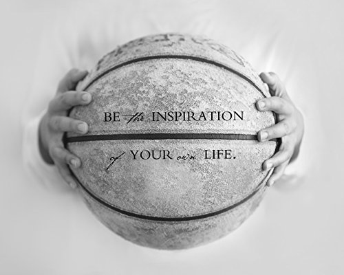 Sports Art Photography Print with Motivational Saying - Boys Room Office Bedroom Nursery Decor by Inspired Art Prints