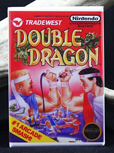 Double Dragon Game Box Refrigerator Magnet. Dragon Fridge Magnet