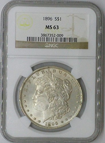 1896 P Morgan $1 MS63 NGC Silver Dollar Old US Coin 90% Silver