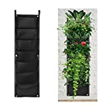 Accmor 7 Pocket Hanging Vertical Garden Wall Planter for Indoor Yard Home Decoration