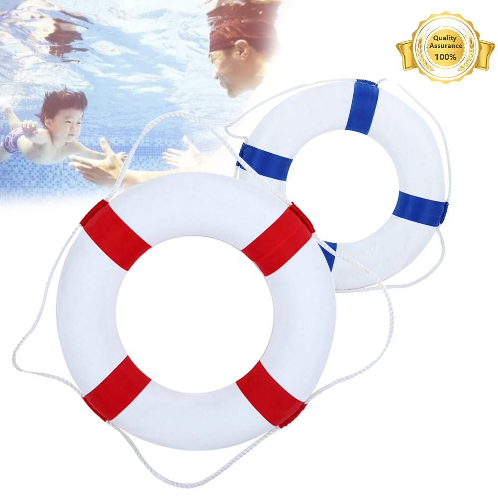 Lshylock Swim Foam Ring,Buoy Swimming Pool Safety Life Preserver with Perimeter Parent-Child Swim Ring Adult red/Child Blue by Lshylock