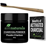 Charcoal Teeth Whitening - Activated Teeth Whitening Charcoal Powder in Bulk 50g- Best Black Organic Natural Activated tooth whitening + FREE Bamboo Toothbrush & eBook- Charcoal Teeth Whitening Kit
