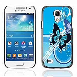 Graphic4You Blue Butterfly Butterflies Design Hard Case Cover for Samsung Galaxy S4 Mini
