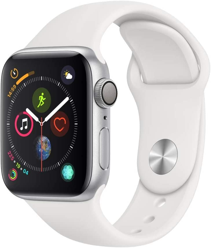 Apple Watch Series 4 (GPS, 40mm) - Silver Aluminium Case with White Sport Band