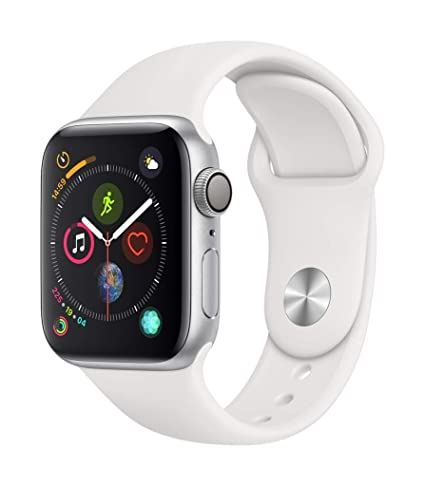 nuevo producto 85f1e 04af4 Apple Watch Series 4 (GPS, 44mm) - Silver Aluminium Case with White Sport  Band