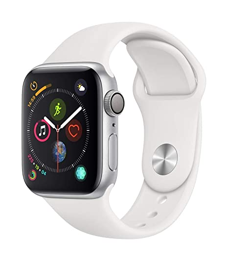 Apple Watch Series 4 (GPS) con caja de 40 mm de aluminio en plata