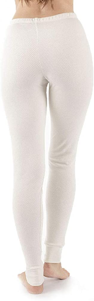 Cottonique Hypoallergenic Womens Thermal Pajama Made from 100/% Organic Cotton 8, Natural