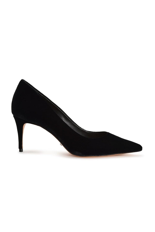496a972c69abc Amazon.com: SCHUTZ Lola Black Velvet Pointed Toe Low Heel Single ...