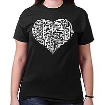 Gun Heart Cute Shirt | 2nd Amendment Girl Cool Gift Idea USA Ladies T-Shirt