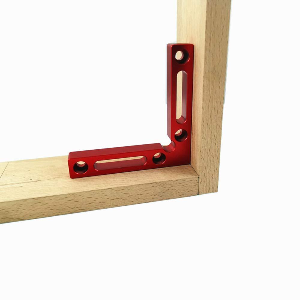 2pcs 90-Grad-Ecke Aluminiumlegierung rechtwinklige Klammern Holzbearbeitung Carpenter Tool Corner Clamping Square Fesjoy Positioning Squares