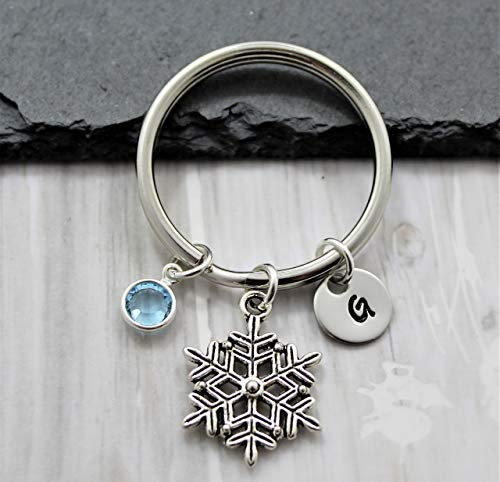 Snowflake Keychain - Personalized - Snowflake Accessories - Snow Themed - Fast Shipping ()