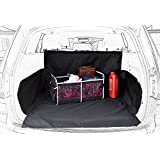 Black Oxford Pet Car SUV Van Back Trunk Cargo Bed Liner Cover Waterproof for Dogs Cats