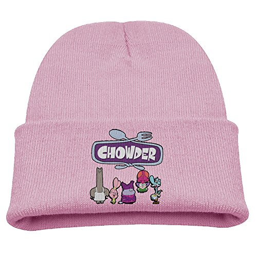 Chowder Cartoon Warm Winter Hat Knit Beanie Skull Cap Cuff Beanie Hat Winter Hats Boys (Dame Edna Costumes)