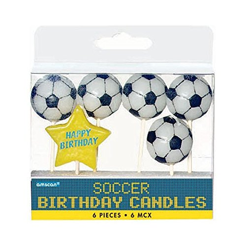 Team Themed Costume Ideas (Soccer Goal Birthday Party Cake Topper Candle Set , Wax, 3