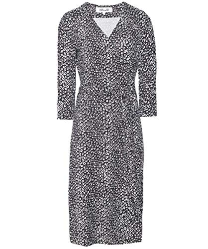 (Diane von Furstenberg Women's Silk New Julian Jersey Wrap Dress Black US)