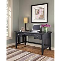 Home Styles 5181-15 Arts and Crafts Executive Desk, Black Finish