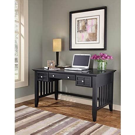 Home Styles 5181 15 Arts And Crafts Executive Desk Black Finish