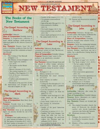 New Testament (Quick Study Academic)