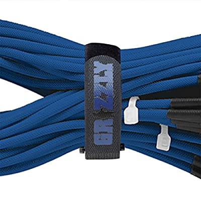 Reusable Cinch Straps, 1-Inch Wide, Black Nylon Cable/Securing Straps, 12  Various Length, Adjustable, Self-Adhesive Nylon Straps: Home Improvement