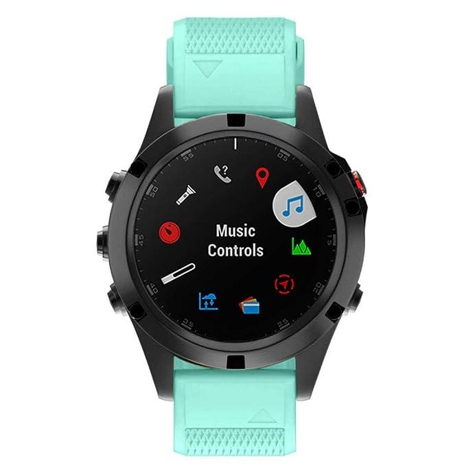 Bestow Garmin Fenix 5 Plus Silicagel Soft Band de Repuesto Quick Install Banda de Banda Reloj Inteligente Electronics Gadgets Reloj de Pulsera(Amarillo): ...