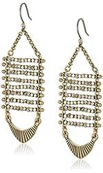 Lucky Brand Two Tone Beaded Drop Earrings