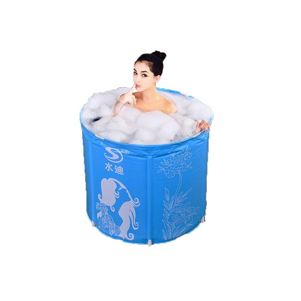 Adult Bath and Shower and Bath Home Folding Bucket Plastic tub,80*70cm MBJZ