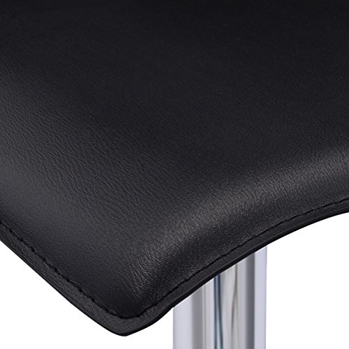 Costway Set Of 2 Swivel Bar Stools Adjustable Pu Leather
