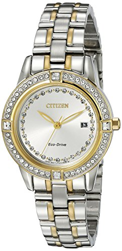 Citizen Women's Eco-Drive Watch with Crystal Accents and Date, FE1154-57A