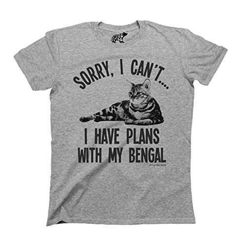 Sorry I Cant I Have Plans With My BENGAL Cat Breed T-Shirt Mens Ladies Unisex