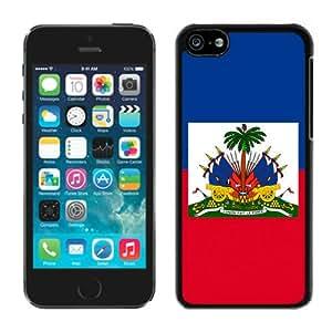 Fashion And Unique iPhone 5C Case Designed With Haitian Haiti Flag Black iPhone 5C Cover