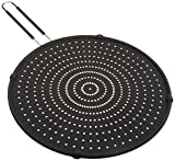 Cook Pro 13'' Silicone Splatter Screen with Non-slip Grip, Large, Black