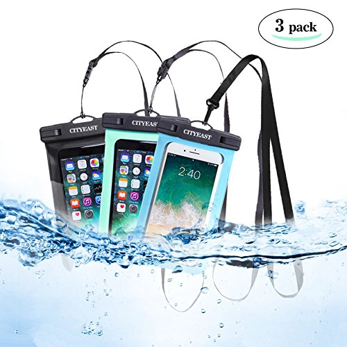 - Universal Waterproof Phone Case of 3 Pack Set IPX8 Waterproof Smartphone Dry Bag for iPhone X, 8/7/7 Plus/6S/6/6S Plus, Samsung Galaxy S9/S9 Plus/S8/S8 Plus/Note 8 6 5 4 (Blue,green,black 3-Pack)