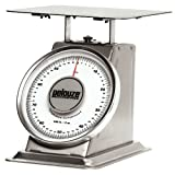 Rubbermaid Commercial Products FG10100S Pelouze Heavy-Duty Mechanical Platform Receiving Scale, Stainless Steel, 100 lb