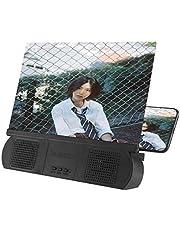 Volwco 10 Inches Scherm Vergrootglas Met Luidspreker, 3D HD Telefoon Scherm Vergrootglas Draagbare Films Versterker Telefoon Projector Met Opvouwbare Houder Stand Voor Alle Smartphone