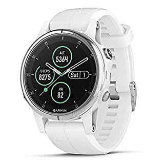 Garmin fēnix 5S Plus Compact Multisport Watch with Music, Maps and Garmin Pay Sapphire, White with Carrara White Band (B07D9J4HNT) | Amazon Products