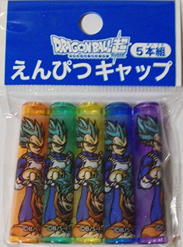 Doragon Ball Super Pencil Cap Cover Holders 5pcs Set Stationery (Japan Stationery)