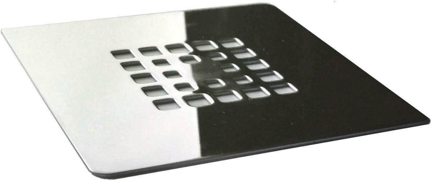 Rejilla cuadrada de 13 X 13 cm en acero inoxidable para platos de ...