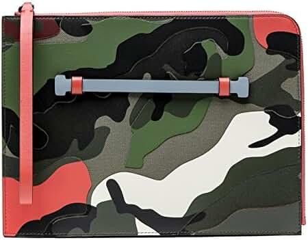 Wiberlux Valentino Men's Camouflage Zippered Clutch
