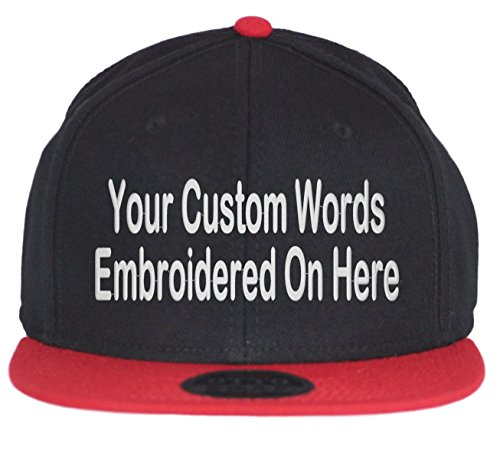 super popular e0c02 72c51 Custom Snapback Hat. Otto. Embroidered. Your Own Text Flatbill Bill  Snapback. (