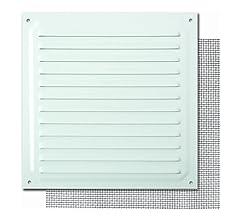 Brinox B73020D Rejilla con mosquitera, Lacado Blanco, 17 x 17 cm: Amazon.es: Bricolaje y herramientas