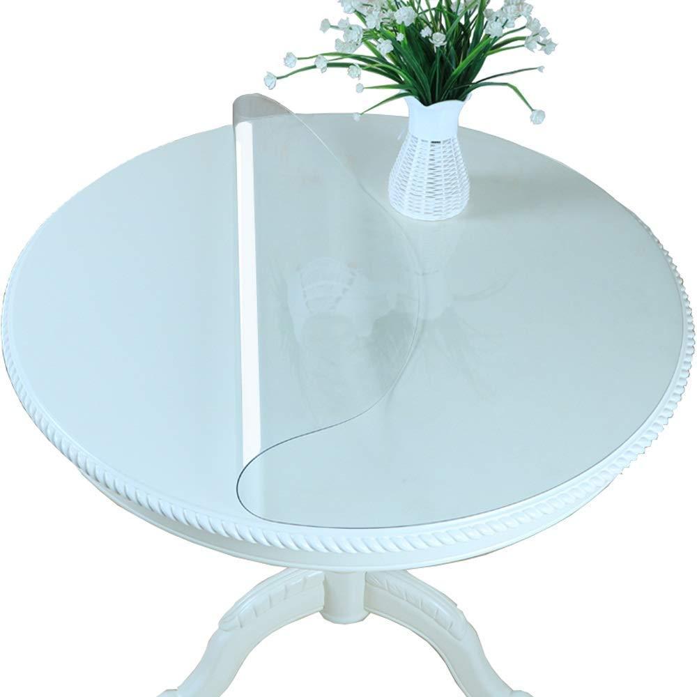 PVCラウンドテーブルクロス防水家庭大理石パターンコーヒーテーブルパッド透明クリスタルノンスリッププロテクター,2MM,180CM 180CM 2MM B07SDQN5S9