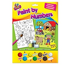 Childrens Kids Paint By Numbers Fairy//Mermaid Farm//Space Farm//Jungle and Underwater//Dinosaurs