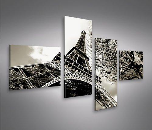 Amazon.De: Bild Bilder Auf Leinwand Eiffelturm 4L Paris Xxl Poster